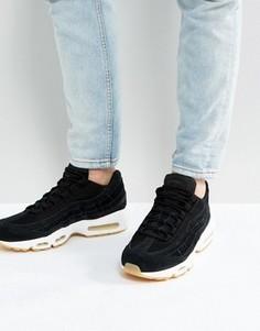 Черные кроссовки Nike Air Max 95 Premium 538416-004 - Черный