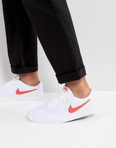 Белые парусиновые кроссовки в клетку Nike SB Solar 843896-161 - Белый