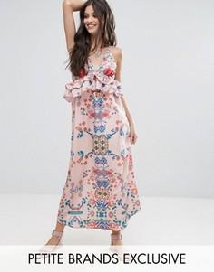 Платье макси с ярким цветочным принтом White Cove Petite - Мульти