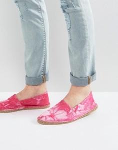 Розовые парусиновые эспадрильи с принтом тай-дай ASOS - Розовый