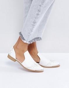 Туфли на плоской подошве в стиле вестерн ASOS MONACO - Белый