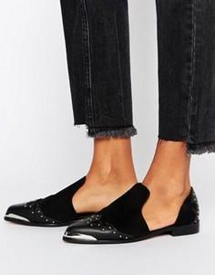 Туфли на плоской подошве в стиле вестерн ASOS MONACO - Черный