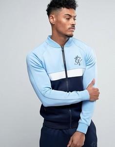 Обтягивающая спортивная куртка Gym King - Синий