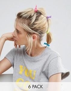 6 разноцветных резинок для волос ASOS - Мульти