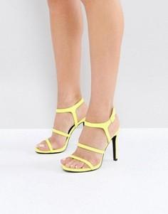 Босоножки на каблуке с ремешками New Look - Желтый