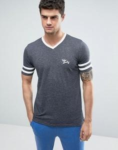 Выбеленная бейсбольная футболка Tokyo Laundry - Темно-синий