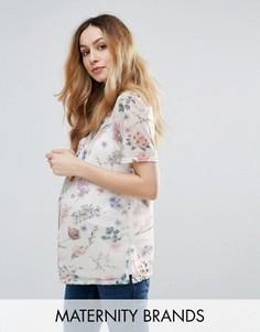 Сетчатая футболка с принтом New Look Maternity - Серый