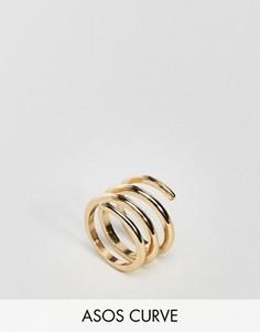 Кольцо ASOS CURVE - Золотой