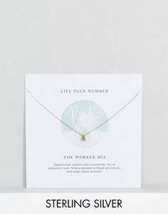 Серебряное ожерелье с подвеской в виде цифры 4 Rock N Rose - Золотой