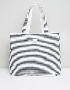Хлопковая пляжная сумка в полоску Jack Wills - Белый