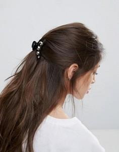 Заколка для волос ограниченной серии с металлическим шаром - Черный Asos