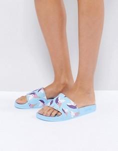 Синие сандалии с единорогами Slydes Mendes - Синий