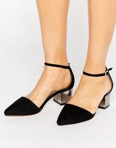 Остроносые туфли на среднем каблуке Truffle Collection - Черный
