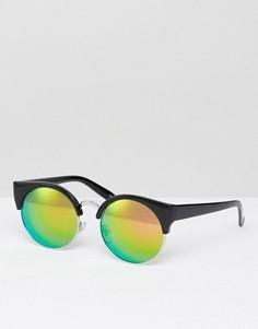 Солнцезащитные очки в стиле ретро с затемненными стеклами Jeepers Peepers - Черный