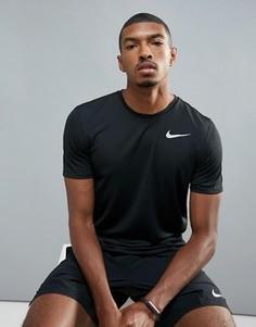 Черная футболка Nike Running Breathe Rapid 833608-010 - Черный