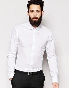 Поплиновая рубашка классического кроя с длинными рукавами New Look - Белый