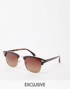Солнцезащитные очки в стиле ретро D-Struct - Коричневый