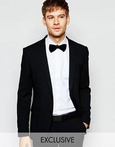 Эксклюзивный эластичный пиджак скинни Number Eight Savile Row - Черный