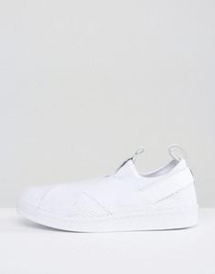 Белые кроссовки-слипоны adidas Originals Superstar - Белый