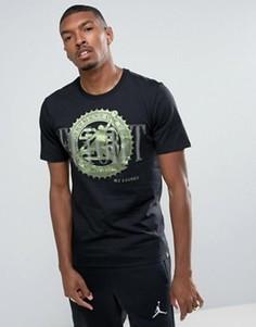 Черная футболка с принтом Nike Jordan Pure Money 844290-010 - Черный