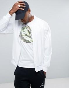 Белая облегающая куртка Nike Jordan Wings 843100-100 - Белый