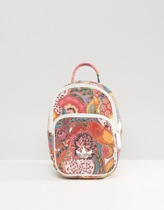 Миниатюрный рюкзак с ярким цветочным принтом adidas Originals - Мульти