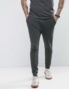 Супероблегающие спортивные штаны ASOS - Зеленый