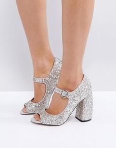 Туфли на высоком каблуке ASOS PRIME TIME - Серебряный