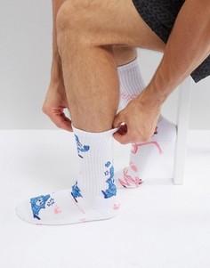 Носки с принтом HUF x Pink Panther - Белый