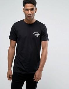 Футболка с круглым вырезом и логотипом на груди Jack & Jones Originals - Черный