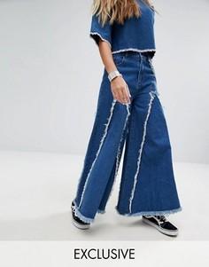 Широкие джинсы Mad But Magic - Синий
