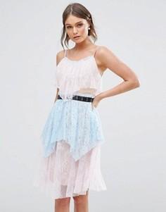 Кружевное платье миди True Decadence - Мульти
