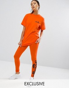 Леггинсы с логотипом сбоку Ellesse - Оранжевый