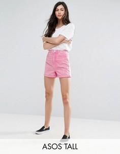 Розовые джинсовые шорты в винтажном стиле ASOS TALL - Розовый