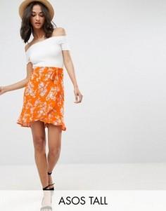 Мини-юбка с цветочным принтом ASOS TALL - Мульти