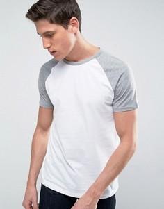 Серая бейсбольная футболка Burton Menswear - Белый