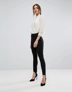 Зауженные брюки со штрипками ASOS Tailored - Черный