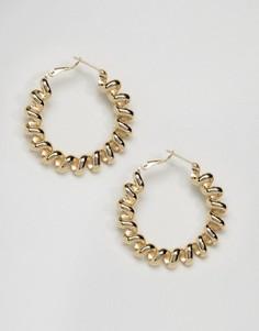 Металлические витые серьги-кольца ограниченной серии - Золотой Asos