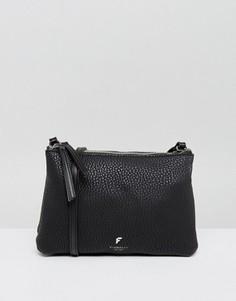 Черная сумка через плечо с молнией сверху Fiorelli - Черный