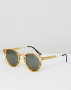 Желтые круглые солнцезащитные очки Spitfire - Желтый