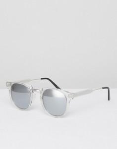 Круглые солнцезащитные очки в прозрачной оправе Spitfire - Прозрачный