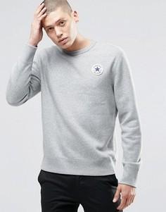 Серый свитшот с круглым вырезом Converse Core 10002133-A01 - Серый