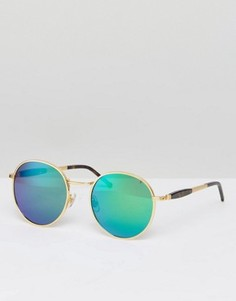 Солнцезащитные очки с зеркальными стеклами Wildfox Dakota - Золотой