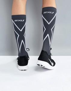 Черные носки с компрессионным эффектом 2XU Performance Run MA4153e - Черный