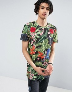 Черная футболка с тропическим принтом Criminal Damage - Черный