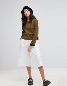 Джинсовая юбка-шорты Native Youth - Белый