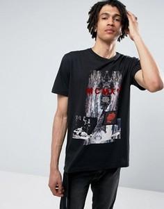 Черная футболка с принтом Criminal Damage - Черный