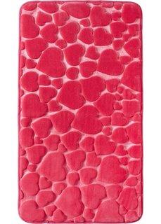 Коврик для ванной Сердце из пены-мемори (ярко-розовый) Bonprix