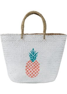Пляжная сумка с принтом ананаса (белый) Bonprix