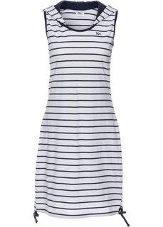 Трикотажное платье (темно-синий/белый в полоску) Bonprix